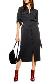 Topshop Utility Midi Shirtdress   Nordstrom at Nordstrom