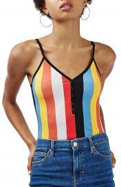 Topshop Vertical Stripe Bodysuit at Nordstrom