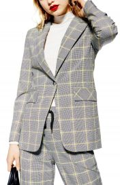 Topshop Windowpane Check Suit Jacket   Nordstrom at Nordstrom