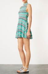 Topshop Zigzag Fit andamp Flare Dress at Nordstrom