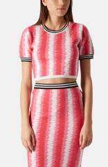 Topshop and39Felt Tipand39 Knit Crop Sweater at Nordstrom