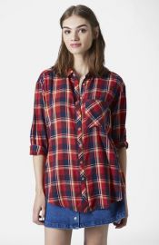 Topshop and39George Elizaand39 Plaid Shirt at Nordstrom