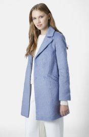 Topshop and39Mollyand39 Double Breasted Swing Coat at Nordstrom