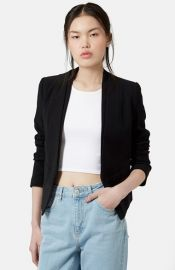 Topshop and39Poppyand39 Double Collar Blazer at Nordstrom