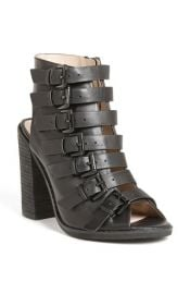 Topshop and39Raggedand39 Multi Buckle Bootie at Nordstrom