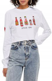Topshop by Tee  amp  Cake Spice Gal Crop Tee at Nordstrom