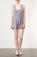 Topshop chambray floral playsuit at Nordstrom