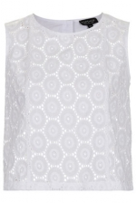 Topshop cotton broderie top at Topshop