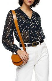 Topshop flock daisy semi sheer blouse at Nordstrom