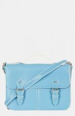 Topshop satchel in light blue at Nordstrom