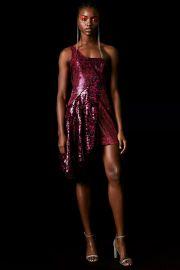 Topshop x Halpern Sequin Asymmetric Dress at Topshop