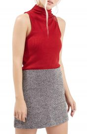 TopshopRibbedMock Collar Tank Regular and Petite at Nordstrom