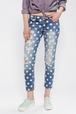 Torn Polka dot Jeans at Urban Outfitters