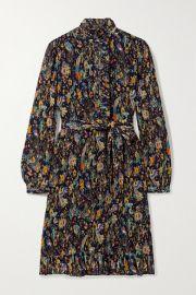 Tory Burch - Deneuve ruffled floral-print pliss  -georgette dress at Net A Porter