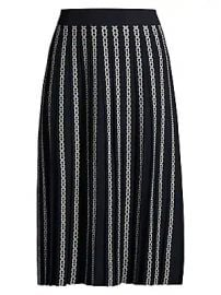 Tory Burch - Gemini Link Jacquard Pleated Skirt at Saks Fifth Avenue