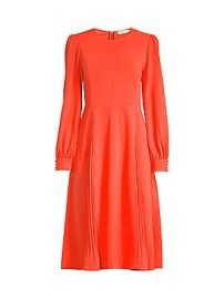 Tory Burch - Long-Sleeve Crepe Flare Dress at Saks Fifth Avenue