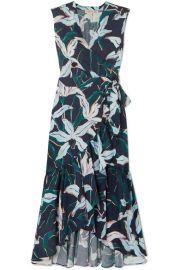 Tory Burch - Ruffled floral-print cotton-poplin wrap dress at Net A Porter