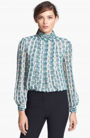 Tory Burch   x27 Jasmine  x27  Silk Top at Nordstrom