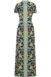 Tory Burch  Printed silk-chiffon maxi dress at Net A Porter