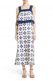 Tory Burch Avila Beetle Print Popover Bodice Dress at Nordstrom