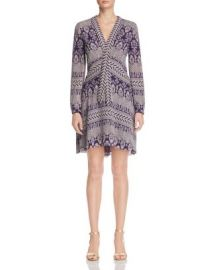 Tory Burch Bourdelle Graphic Floral Silk Dress at Bloomingdales