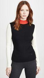 Tory Burch Colorblock Mockneck Sweater at Shopbop
