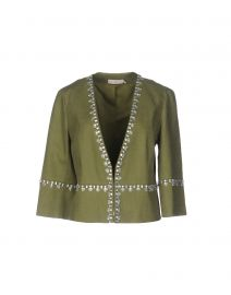 Tory Burch Embellished Linen Jacket at Yoox