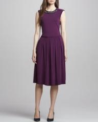 Tory Burch Eva Jewel-Neck Dress at Neiman Marcus