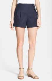 Tory Burch Farrah Pleat Front Shorts at Nordstrom