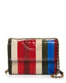Tory Burch Fleming Eel Patchwork Convertible Shoulder Bag Handbags - Bloomingdale s at Bloomingdales