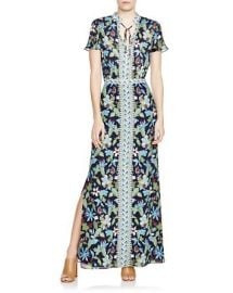 Tory Burch Floral Silk Caftan at Bloomingdales