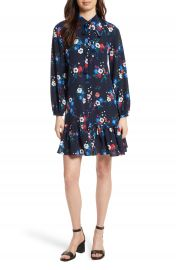 Tory Burch Gabrielle Floral Silk Shirtdress at Nordstrom