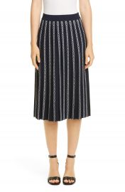 Tory Burch Gemini Link Jacquard Pleated Skirt   Nordstrom at Nordstrom