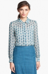Tory Burch Kerry Silk Blouse at Nordstrom