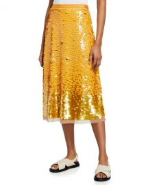 Tory Burch Sequin Embellished Midi Skirt at Neiman Marcus