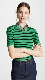 Tory Burch Woven Collar Sweater at Shopbop
