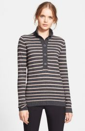 Tory Burch and39Giselleand39 Half Button Sweater at Nordstrom