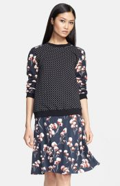Tory Burch and39Ronnieand39 Print Terry Cotton Pullover at Nordstrom
