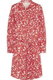Tory BurchandnbspandnbspBrigitte printed cotton shirt dress at Net A Porter