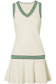 Tory Sport - Striped stretch-knit mini dress at Net A Porter