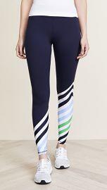 Tory Sport Diagonal Stripe Leggings at Shopbop