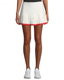 Tory Sport Pleated Tennis Skirt w  Contrast Hem at Neiman Marcus