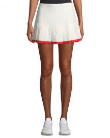 Tory Sport Pleated Tennis Skirt w  Contrast Hem at Neiman Marcus