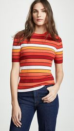 Tory Sport Tech Knit Striped Tee at Shopbop