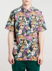 Toucan print shirt at Topman