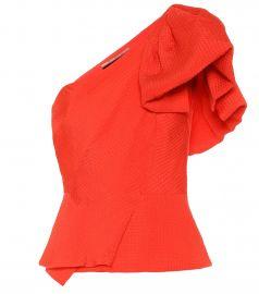 Toulon silk-jacquard top at Mytheresa