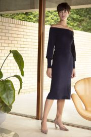 Toulouse Dress Navy Viscose at The Fold