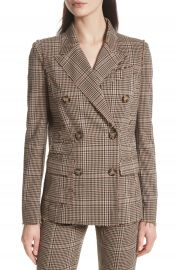 Tracy Reese Double Breasted Plaid Blazer at Nordstrom