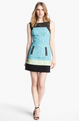 Tracy Reese Mix Media Dress at Nordstrom