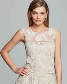 Tracy Reese Top - Raffia Lace Embellished at Bloomingdales